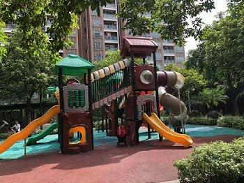 广东55体育直播网小区高档双层滑滑梯